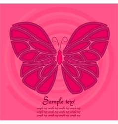 pink butterfly background vector image vector image