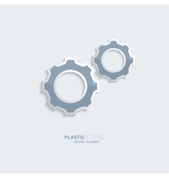 Plastic icon setting symbol vector image