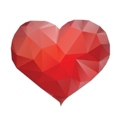 Polygonal heart isolated vector image vector image