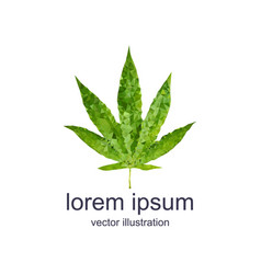 Polygonal marijuana leaf vector
