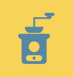 Retro coffee grinder vector