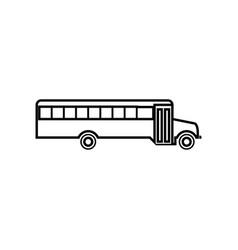school bus it is black icon vector image vector image