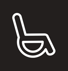 Stylish black and white icon wheel chair vector