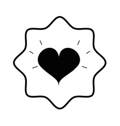Symbol beautiful heart of love vector