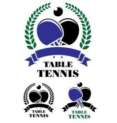 Table tennis emblems set vector image