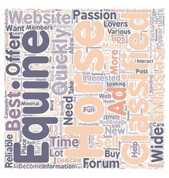 The Benefits of Reliable Equine Websites text vector image