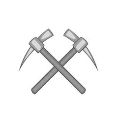 Two crosse picks icon black monochrome style vector