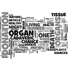 Why become a donor text word cloud concept vector