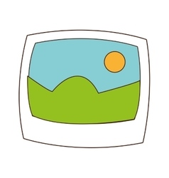 Landscape photograph icon vector