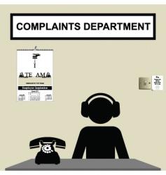 complaints department vector image