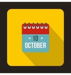 Columbus day calendar icon flat style vector