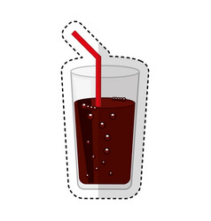 soda glass isolated icon vector image