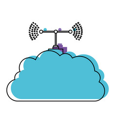 Cloud service and transmission antenna in vector