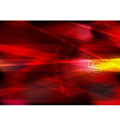 Abstract computer hi-tech background in red vector image