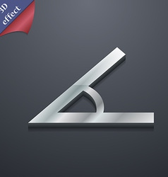 Angle 45 degrees icon symbol 3d style trendy vector