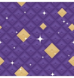Purple geometric pattern with stars vector