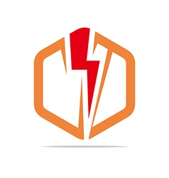 Logo electricity power icon design symbol abstract vector