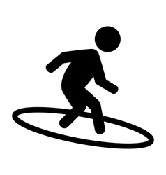 Summer water sport surfing pictograms flat people vector