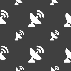 Satellite antenna icon sign seamless pattern on a vector