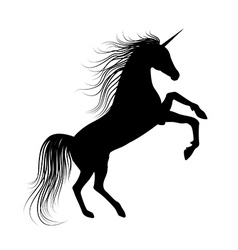 Unicorn silhouette vector
