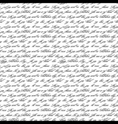 Seamless pattern with handwritten text vector