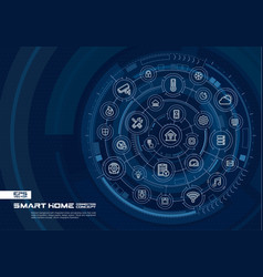 abstract smart home technology background digital vector image