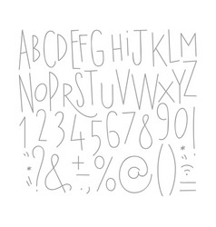 alphabet straight lines font vector image