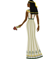 Ancient Egyptian woman vector image vector image