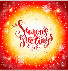 bright christmas red background vector image vector image