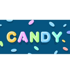 Candy typography sweet letters lollipops lettring vector