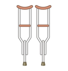 Crutches icon cartoon style vector