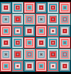 ethnic tribal square seamless pattern vector image vector image