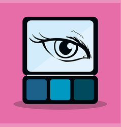 Eyeshadow makeup cute eye girl vector