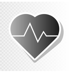 Heartbeat sign new year vector