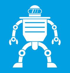 Humanoid robot icon white vector