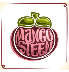 Logo for mangosteen vector