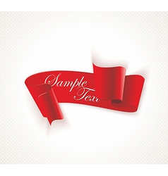 Red silky ribbon banner vector image