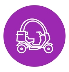 Rickshaw line icon vector