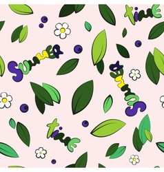Seamless summer leaves background vector