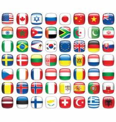 set of world flags vector image vector image