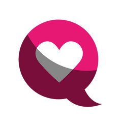 speech bubble with heart isolated icon vector image vector image