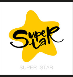Super star lettering vector