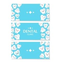 Tooths bannes set vector