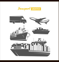transport logistics design template image vector image vector image