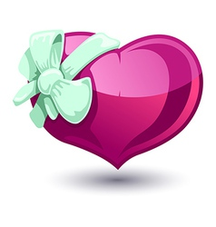 Valentine heart with a bow-knot vector image