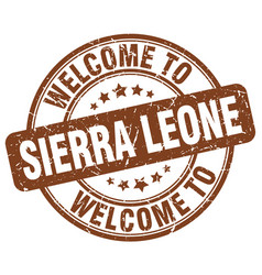 Welcome to sierra leone brown round vintage stamp vector