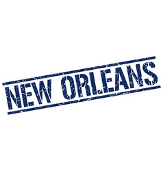 New orleans blue square stamp vector