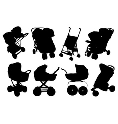 Set silhouettes icon baby vector