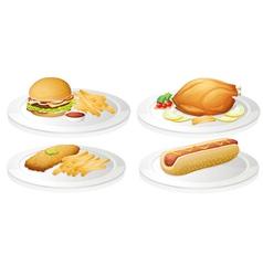 a food vector image