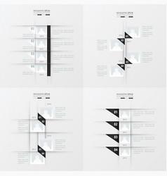 timeline design 4 item black and white color vector image